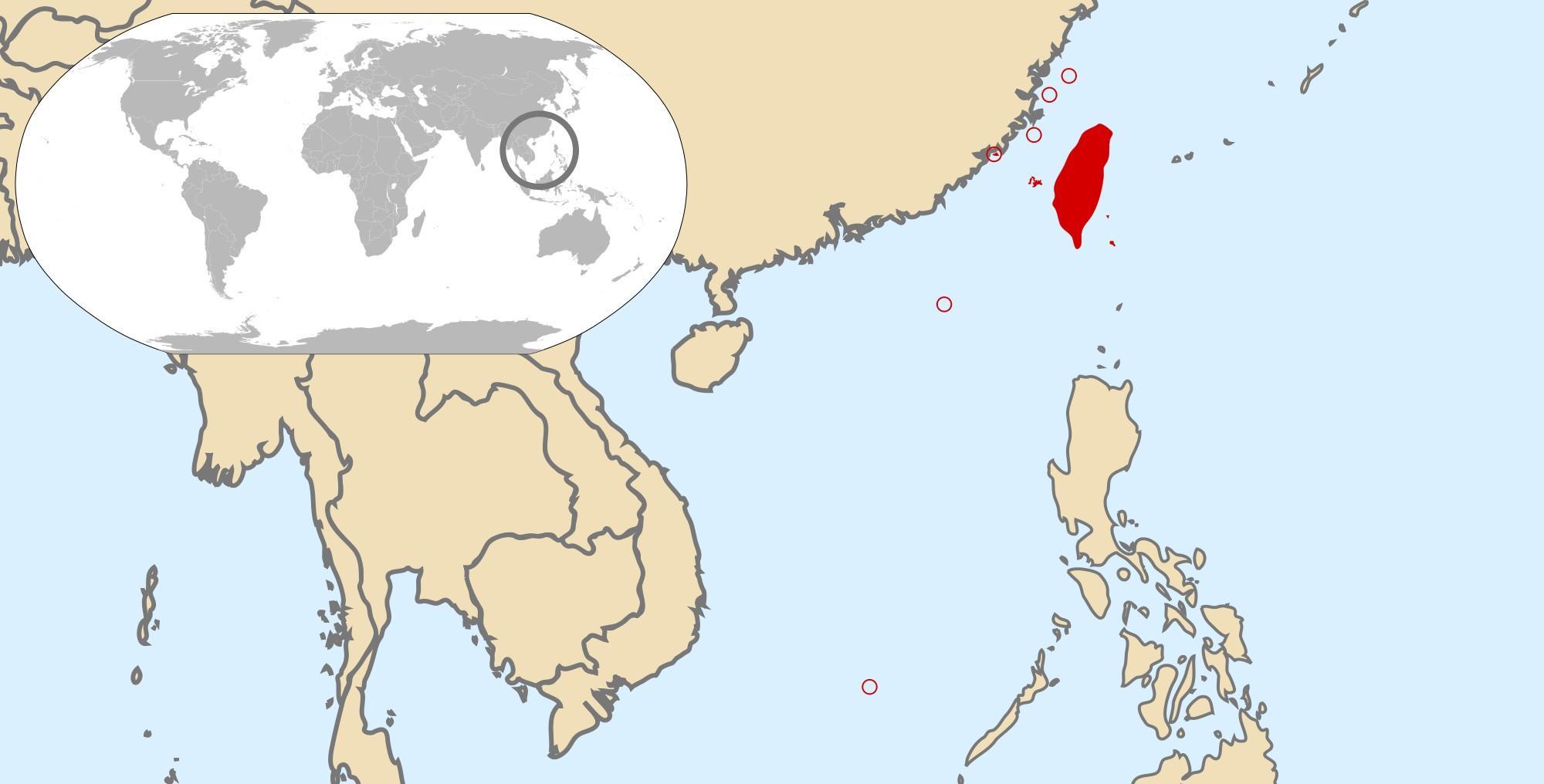 Taiwan World Map Taiwan Global Map Eastern Asia Asia