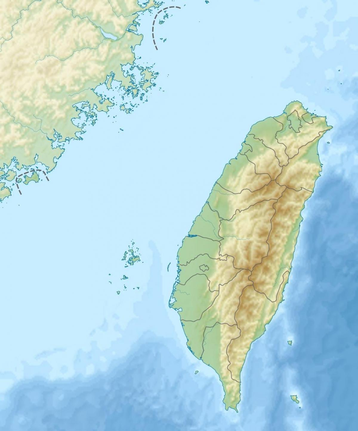 Taiwan Elevation Map Map Of Taiwan Elevation Eastern Asia Asia