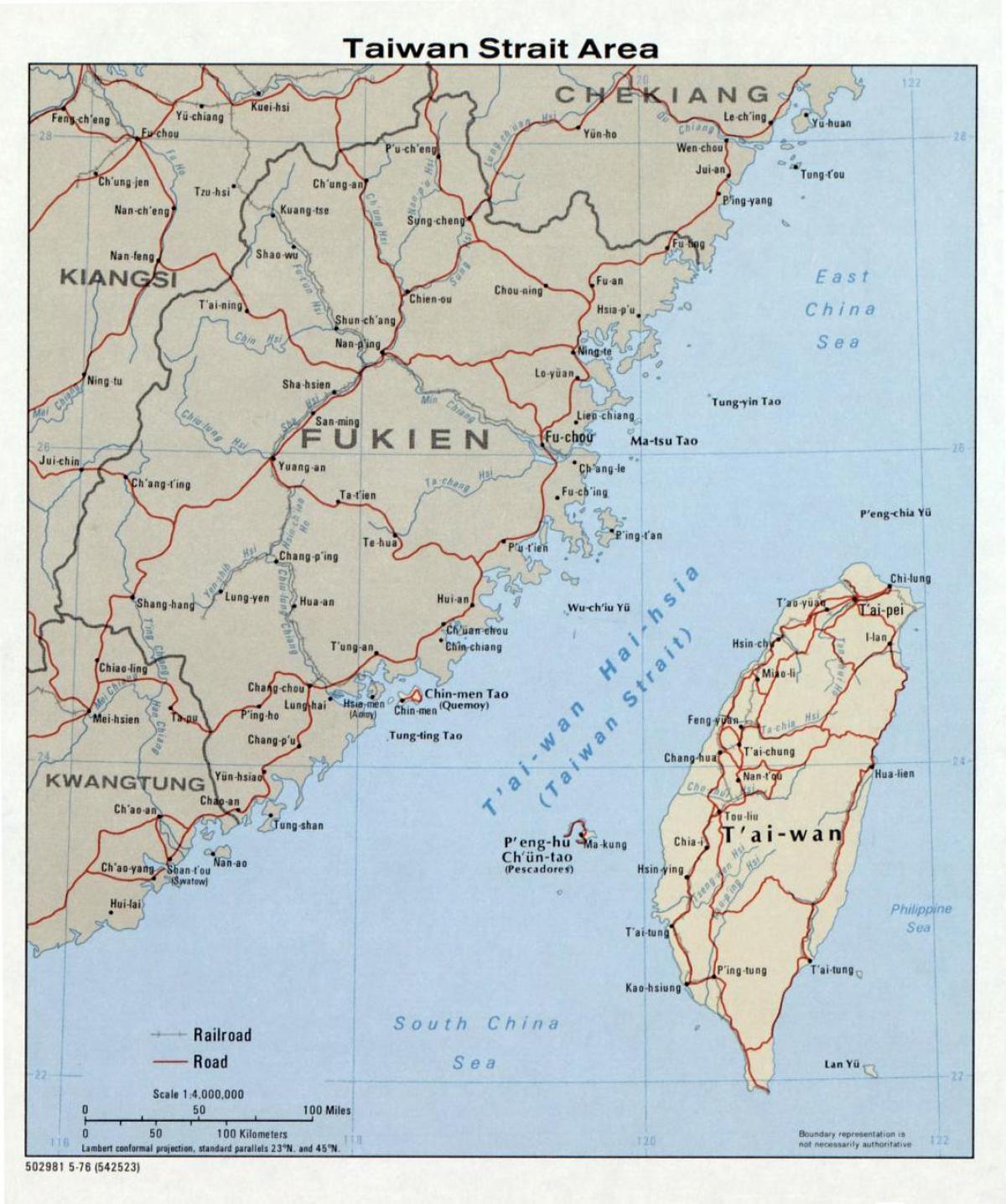 Taiwan Strait Map Taiwan strait map   Map of Taiwan strait (Eastern Asia   Asia)