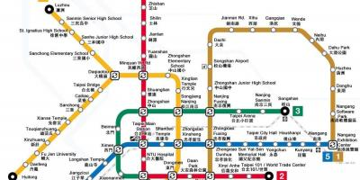 Taiwan Subway Map Map Of Taiwan Subway Eastern Asia Asia