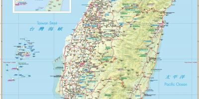 Map of Taiwan tourist attractions